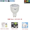 2.4g wifi rgb Blanco 4w inteligente Luz led gu10 para android / iOS