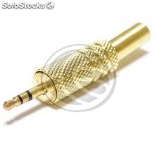 2.5mm male stereo jack connector high quality gold (AW37-0002)