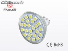 2.8Watt, mr16 led spot light, 24pcs 5050 smd LEDs, 240lm, residential lighting