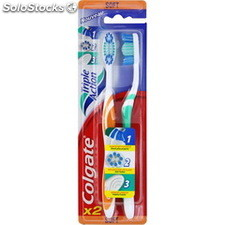 2 brosses a dents souples triple action colgate