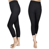 2 leggings capri negros, tallas 122/128