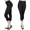 2 leggings capri negros, tallas S/M