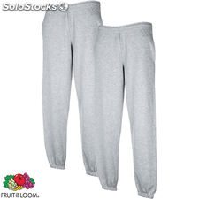 2 pantalones deportivos Fruit of the Loom grises , talla L