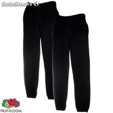 2 pantalones deportivos Fruit of the Loom negros , talla S