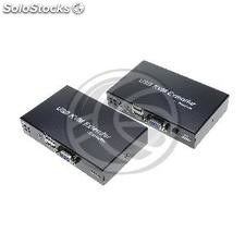 2 port KVM switch with KVM extender 100m through STP network cable 100m