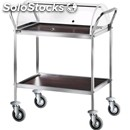 2-shelf catering trolley - mod. ca1154 - for desserts and starter dishes -