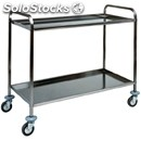 2-shelf catering trolley - mod. ca1382 - stainless steel structure - soundproof