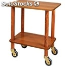 2-shelf gueridon trolley - mod. cl903 - solid wood struts - n. 2 walnut veneered