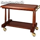 2-shelf solid wood catering trolley - mod. lp412 - veneered solid wood structure