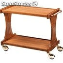 2-shelf wooden catering trolley - mod. cl2000 - birch plywood structure -
