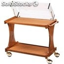 2-shelf wooden catering trolley - mod. cl2351 - for desserts and starter dishes