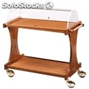 2-shelf wooden catering trolley - mod. cl2355 - for desserts and starter dishes