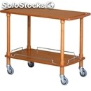 2-shelf wooden catering trolley - mod. clp2 - solid wood structure - birch