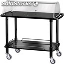 2-shelf wooden catering trolley with display lid - mod. clc2 - trolley for