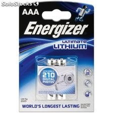 2 x pila batteria litio energizer mini stilo AAA 1,5 v 79262