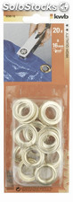 20 ojales para remaches 10 mm KWB