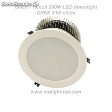 200W LED downlight 8in/10in CREE chips cut-out 200mm/cut-out 240mm