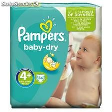 24 changes baby dry pqt T4+pampers