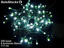 240 luces LED 8 funciones blanco 717cm