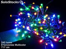 240 luces LED 8 funciones multicolor 717cm