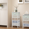 242878 Shabby Chic French Storage Cabinet 5 Drawers Wood - Untranslated
