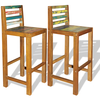 243025 Bar Chairs 2 pcs Solid Reclaimed Wood 40x40x105 cm - Untranslated
