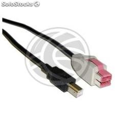 24V PoweredUSB Cable 5m (usb-bm/pusb-24V) (UC84)