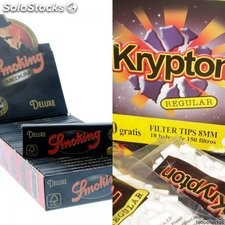 25 librillos papel de fumar Smoking Deluxe 2.0 Medium + 2700 filtros Krypton 8mm
