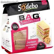 250G b.a.g jambon/emmental+cookie sodebo