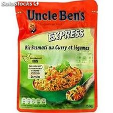 250G riz express basmati curry legumes uncle ben's