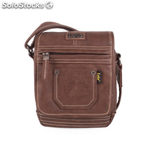 27016 bandolera polipiel back pocket marron
