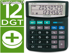27549 Calculadora citizen sobremesa dl-870 euro 12 digitos doble pantalla negra