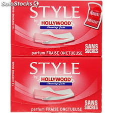 28 gum sans sans sucre fraise onctueuse style by hollywood