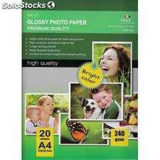 297x210mm a4 high glossy inkjet photo paper 240g 20 hojas