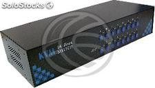 2U em rack kvm Switch PS2 Uniclass vga 1KVM para 16CPU (UN43)