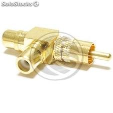 "2xRCA-female adapter to 1XRCA high quality gold-male type ""T\"" (AW53)"