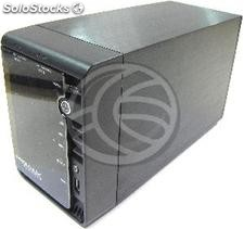 3,5 Box esterno lan-hdd 2xSATA-1GB (2xUSB + tcp/ip) (CE58)
