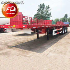 3 axles 40ft container flatbed truck trailers