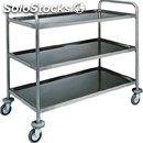 3-shelf catering trolley - mod. ca1410 - extra thick round tubular stainless