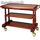 3-shelf solid wood catering trolley - mod. lp411 - veneered solid wood structure