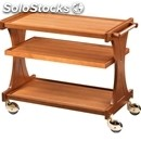 3-shelf wooden catering trolley - mod. cl2150 - birch plywood structure -
