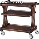 3-shelf wooden catering trolley - mod. cl2151 - birch plywood structure -