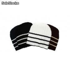 3 Stripe Knit Hat