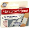 30 pansements technol.argt mercurochrome