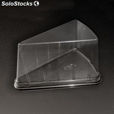 300 u. Recipientes triangulares pasteles ops 12,4x8,75x8,2CM transparente pet