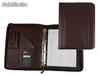 31378 Carpeta portafolios 45-848 marron 260x355 mm cremallera 4 anillas 40 mm