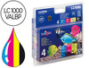 37960 Ink-jet brother lc-1000 pack negro/cian/magenta y amarillo