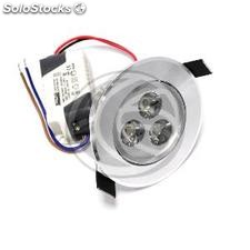 3W LED recessed downlight 65mm silver cool white (NH61-0003)