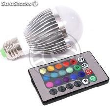 3W RGB LED bulb with remote control (LU24-0002)