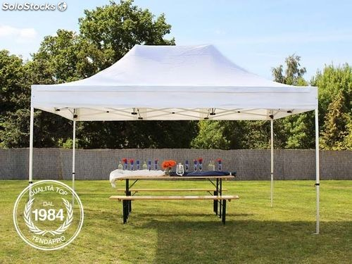 3x4 5 m gazebo pieghevole bianco alu professional. Black Bedroom Furniture Sets. Home Design Ideas